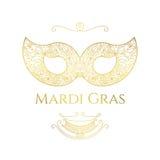 Cartolina d'auguri di Mardi Gras Fotografia Stock