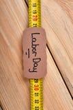 Cartolina d'auguri di misura e di nastro Immagine Stock