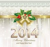 Cartolina d'auguri di Natale 2014 Immagine Stock Libera da Diritti