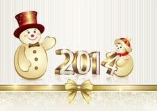 Cartolina d'auguri di Natale 2014 Fotografia Stock Libera da Diritti