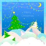 Cartolina d'auguri di Natale Fotografia Stock Libera da Diritti