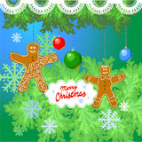 Cartolina d'auguri di Natale. Fotografia Stock Libera da Diritti