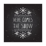 Cartolina d'auguri di Natale con testo sulla lavagna Immagini Stock