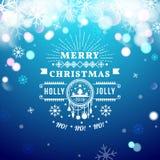 Cartolina d'auguri di Natale con tipografia di Natale Fotografie Stock