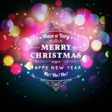 Cartolina d'auguri di Natale con tipografia di Natale Immagine Stock Libera da Diritti