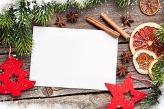 Cartolina d'auguri di Natale e decorazione dell'alimento Immagine Stock Libera da Diritti