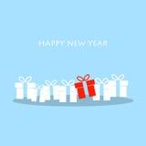 Cartolina d'auguri di Natale e del buon anno illustrazione vettoriale