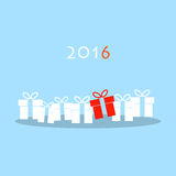Cartolina d'auguri di Natale e del buon anno illustrazione di stock