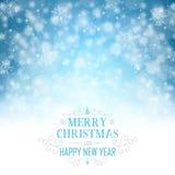 Cartolina d'auguri di Natale - illustrazione Fotografia Stock