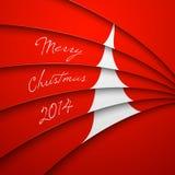Cartolina d'auguri di Natale, iscrizione di Buon Natale Fotografia Stock