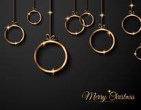 Cartolina d'auguri di Natale per le carte felici di feste Fotografie Stock Libere da Diritti