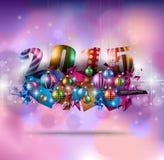 Cartolina d'auguri di Natale per le carte felici di feste Fotografia Stock Libera da Diritti