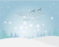 Cartolina d'auguri di Natale, vettore Fotografia Stock Libera da Diritti