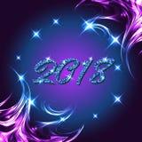 cartolina d'auguri di 2018 nuovi anni Immagine Stock