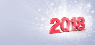cartolina d'auguri di 2018 nuovi anni royalty illustrazione gratis