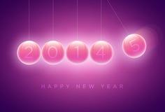 Cartolina d'auguri di nuovo anno Immagini Stock Libere da Diritti