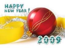Cartolina d'auguri di nuovo anno Immagini Stock