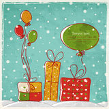 Cartolina d'auguri di nuovo anno con spazio per testo Fotografie Stock