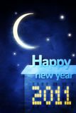 Cartolina d'auguri di nuovo anno felice illustrazione vettoriale