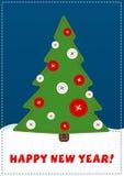 Cartolina d'auguri di nuovo anno felice Fotografie Stock