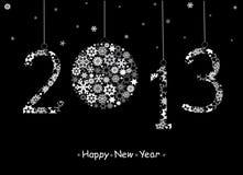 Cartolina d'auguri di nuovo anno felice 2013. Fotografie Stock Libere da Diritti