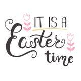 Cartolina d'auguri di Pasqua - è un tempo di Pasqua Fotografia Stock