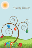 Cartolina d'auguri di Pasqua   illustrazione vettoriale