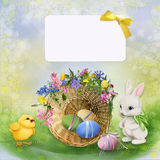 Cartolina d'auguri di Pasqua Immagini Stock Libere da Diritti