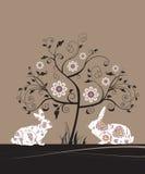 Cartolina d'auguri di Pasqua. Fotografia Stock