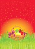 Cartolina d'auguri di Pasqua con copia-spazio Fotografia Stock