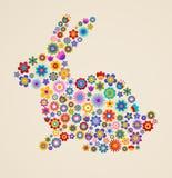 Cartolina d'auguri di Pasqua con il coniglietto Fotografia Stock
