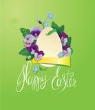 Cartolina d'auguri di Pasqua con l'uovo di carta Fotografia Stock Libera da Diritti