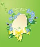 Cartolina d'auguri di Pasqua con l'uovo di carta Immagine Stock