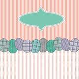 Cartolina d'auguri di Pasqua con le uova Immagini Stock