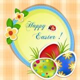 Cartolina d'auguri di Pasqua Fotografie Stock Libere da Diritti