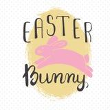Cartolina d'auguri di Pasqua - coniglietto di pasqua Fotografia Stock