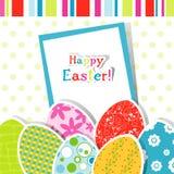 Cartolina d'auguri di Pasqua del modello Fotografia Stock