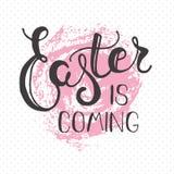 Cartolina d'auguri di Pasqua - Pasqua sta venendo Fotografia Stock Libera da Diritti