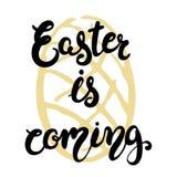 Cartolina d'auguri di Pasqua - Pasqua sta venendo Fotografie Stock