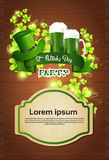 Cartolina d'auguri di Patrick Day Beer Festival Banner del san Fotografie Stock