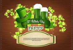 Cartolina d'auguri di Patrick Day Beer Festival Banner del san Immagine Stock Libera da Diritti