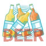 Cartolina d'auguri di Patrick Day Beer Festival Banner del san Immagini Stock