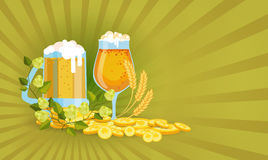 Cartolina d'auguri di Patrick Day Beer Festival Banner del san Immagine Stock