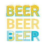 Cartolina d'auguri di Patrick Day Beer Festival Banner del san Fotografia Stock Libera da Diritti