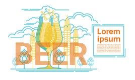 Cartolina d'auguri di Patrick Day Beer Festival Banner del san Fotografie Stock Libere da Diritti