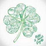 Cartolina d'auguri di St Patrick. Royalty Illustrazione gratis