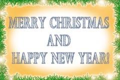 Cartolina d'auguri di vacanze invernali di stile del lamé Immagine Stock
