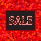 Cartolina d'auguri di vendita con cuori illustrazione di stock