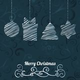 Cartolina d'auguri di vettore di Natale Fotografia Stock