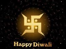 Cartolina d'auguri di vettore per il diwali Fotografia Stock